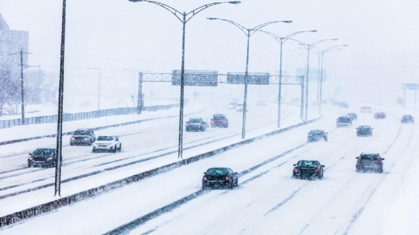 Carreteras nevadas tormenta