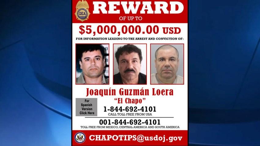 el chapo reward poster DEA State Department