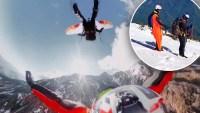 En video: espectacular vuelo acrobático en las alturas