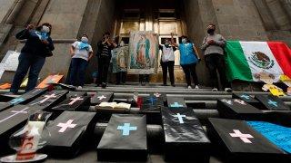 Protestas contra el aborto en México