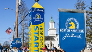 Boston Marathon Starting Line