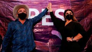 Vicente Fernández Jr. y su novia anuncian candidaturas por el PES