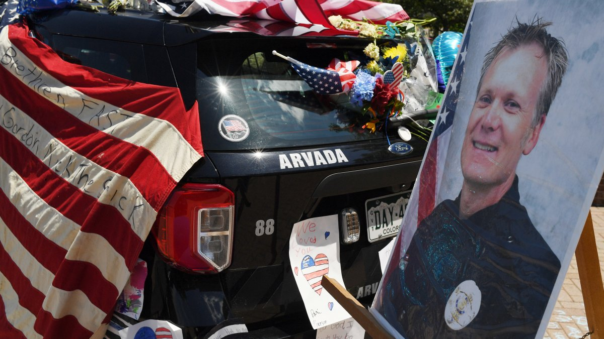 Family and friends bid final goodbye to Officer Gordon Beesley killed in Arvada shooting
