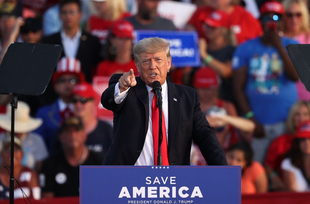 Trump returns to politics and holds his first political rally