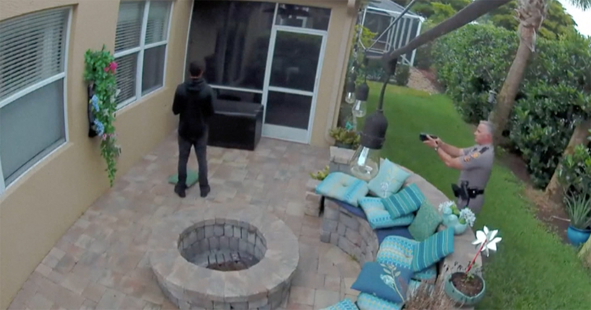 Florida officer shoots a 16-year-old boy with a taser gun in the courtyard of his girlfriend's house