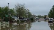 Agua en Fillmore St., en el área de Globe Meadows en Sterling.