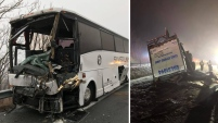 Al menos 27 personas resultaron heridas por este dramático accidente en Virginia.