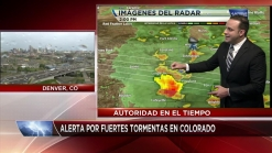 Alerta por fuertes tormentas en Colorado