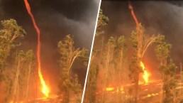 Captan en video espeluznante tornado de fuego
