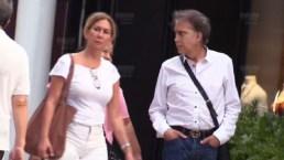 José Luis Rodríguez es captado de compras con su esposa