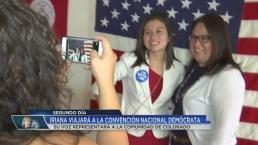 Joven representa a la comunidad en convención demócrata