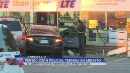 Persecución policial termina en arresto