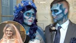 Bodas zombis: celebran el gran día con un toque tenebroso