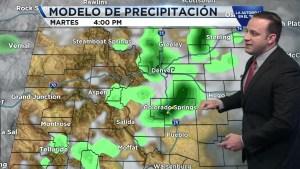 Hoy sectores al norte de Denver y al sur verán las lluvias más fuertes. Otras tormentas, granizo y rayos se desarrollarán hacia el sureste de Colorado. Conoce más.