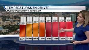 Durante casi todo el viernes estará mayormente despejado y con mucho calor. Temperaturas por encima de los 90 grados