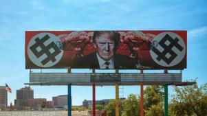 Artista recibe amenazas por valla con imagen de Trump