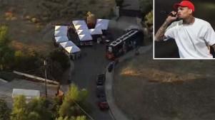 Venta de garaje de Chris Brown atrae multitudes en California