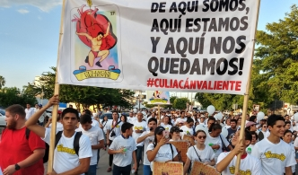 """""""Culiacán Valiente"""": marchan contra la violencia"""