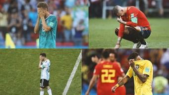 Fueron las mayores decepciones en la Copa Mundial