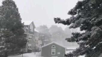 Nieve en primavera: aviso de blizzard en Colorado
