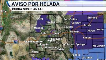 Emiten advertencia por heladas al sur de Colorado