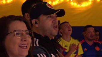 Fanáticos colombianos sufren la derrota de su equipo