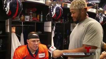 Max García, de los Broncos entrevista a sus compañeros