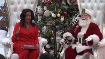 Michelle Obama sorprendió a niños en Colorado