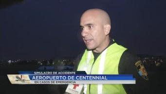 Simulacros de rescate aéreo son realizados en el Aeropuerto de Centennial
