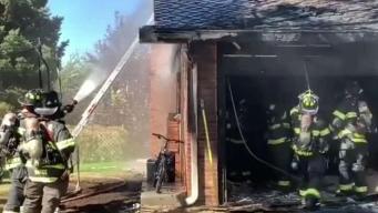 Fuerte incendio consume casa en Centennial