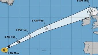 La tormenta tropical Gabrielle avanza en el Atlántico