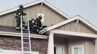 Rayo provoca incendio en una vivienda de Lakewood