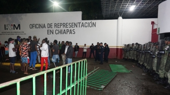 Migrantes y Guardia Nacional chocan en Chiapas