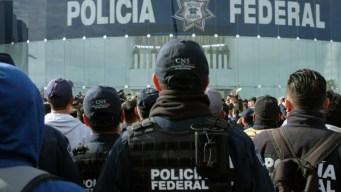 Policías se manifiestan contra la Guardia Nacional