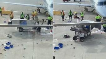 Increíble: carrito fuera de control en pista de aeropuerto