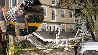 Colapso de balcones deja varios heridos en Nueva Jersey
