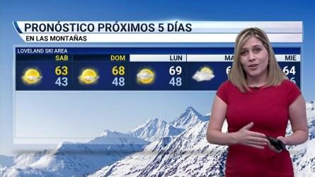 Condiciones soleadas y secas en casi todo Colorado. Temperaturas por encima del promedio.