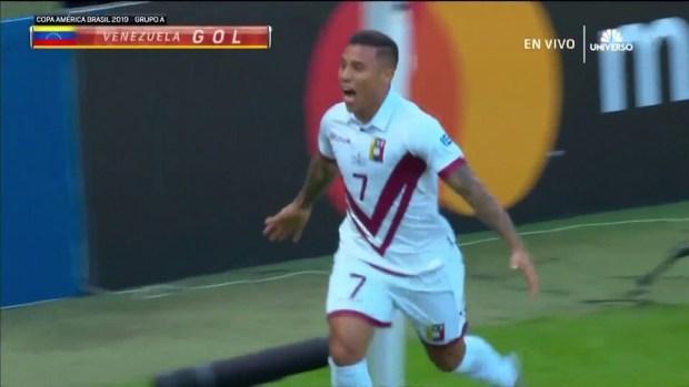 [Copa America PUBLICADA] Machís marca con un cabezazo para Venezuela ante Bolivia