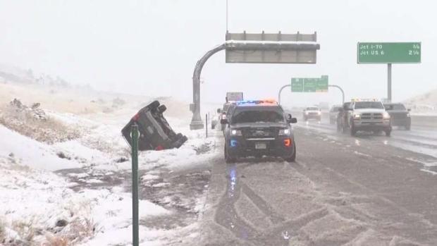 [TLMD - Denver] Fuerte accidente en la C-470 durante las nevadas