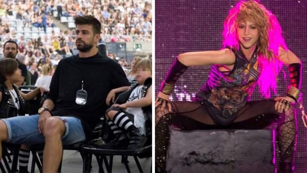 Reunión familiar en el concierto de Shakira