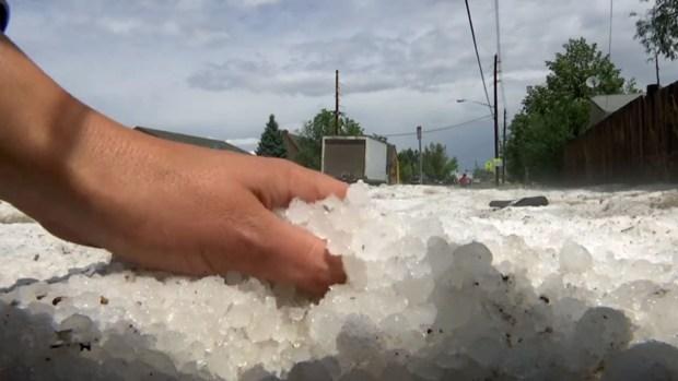Sorprendidos por tormenta de granizo