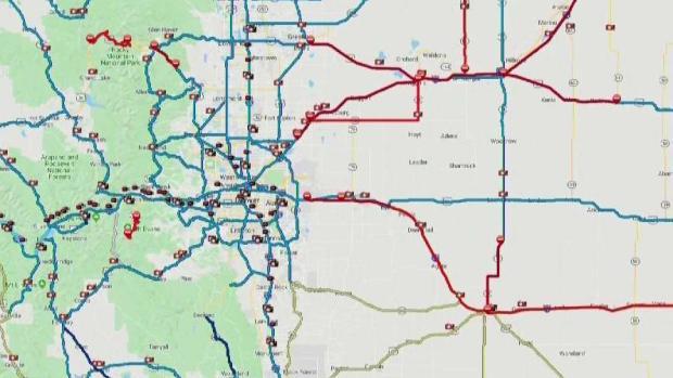 [TLMD - Denver] Múltiples cierres viales tras tormenta en Colorado