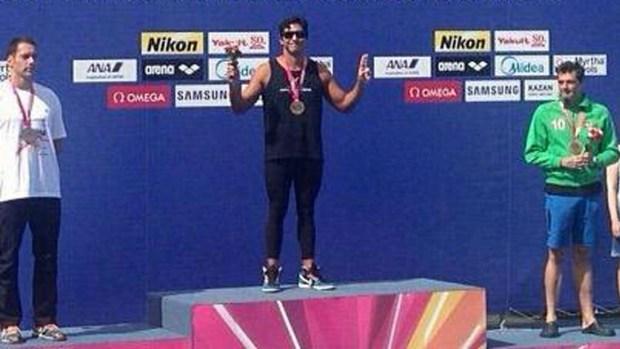 Venezolano se lleva dos medallas de oro en natación