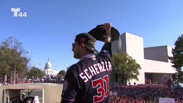 Los mejores momentos del desfile de campeones de los Nats