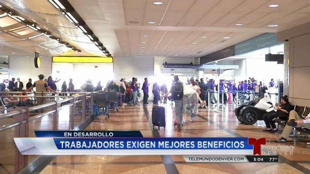 [TLMD - Denver] Trabajadores del Aeropuerto piden mejores beneficios