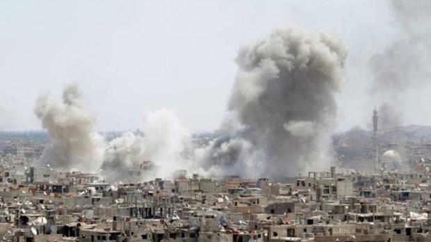 Feroz bombardeo contra túneles de ISIS