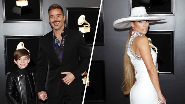 El tierno invitado de Ricky Martin y el sombrero de Jennifer López: lo más curioso de los Grammy