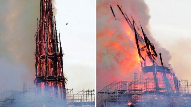 [TLMD - LV] En video: el momento más dramático del incendio en Notre Dame