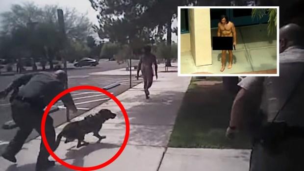 [TLMD - LV] Video en donde policía le dispara a hombre desnudo