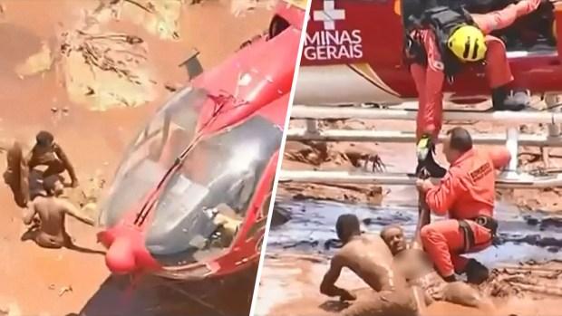 Dramático rescate: hallan personas arrastradas por avalancha de lodo tras tragedia en Brasil